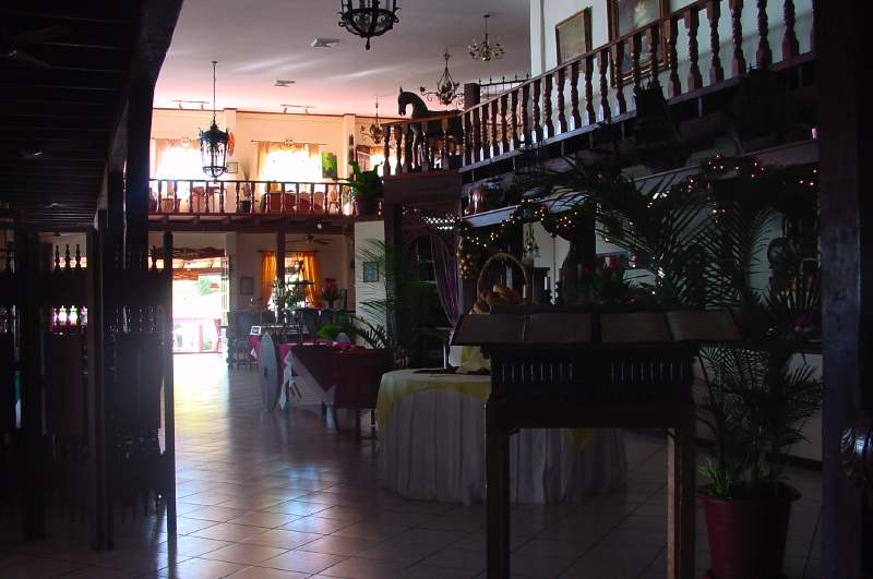 Inside the hotel Parador