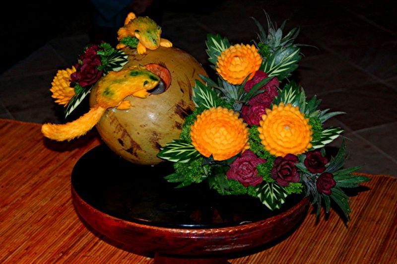 Sculptures sur fruits