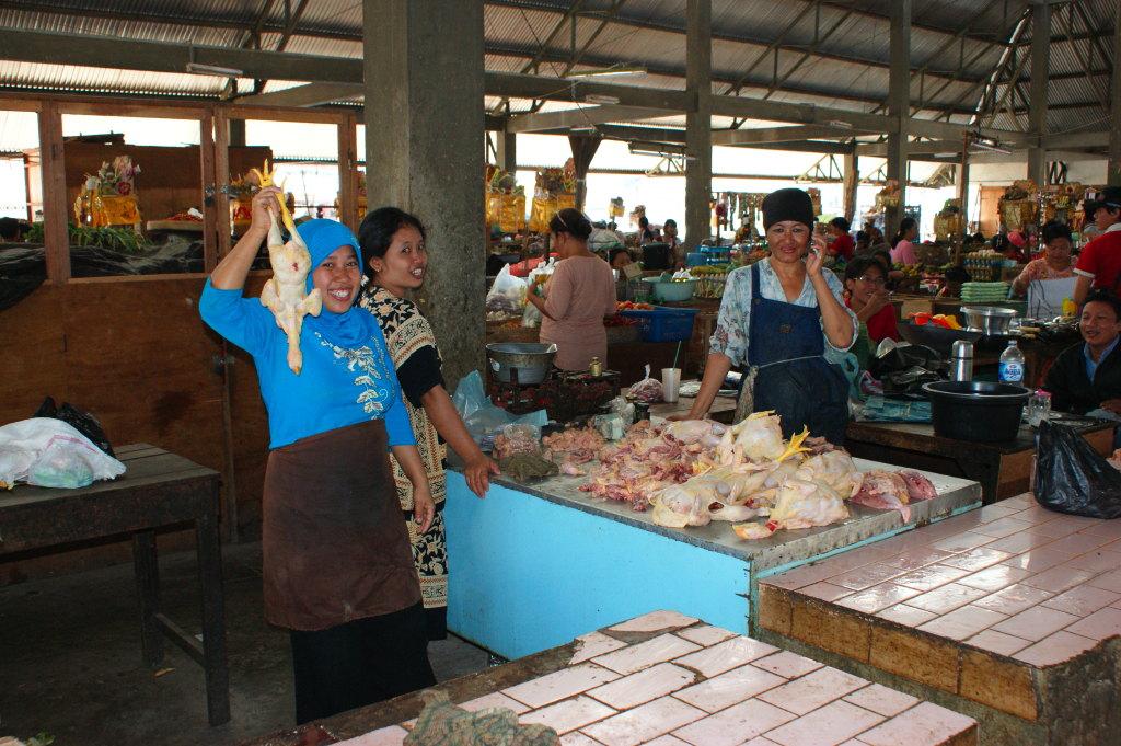 Poulets au marché de Singaraja