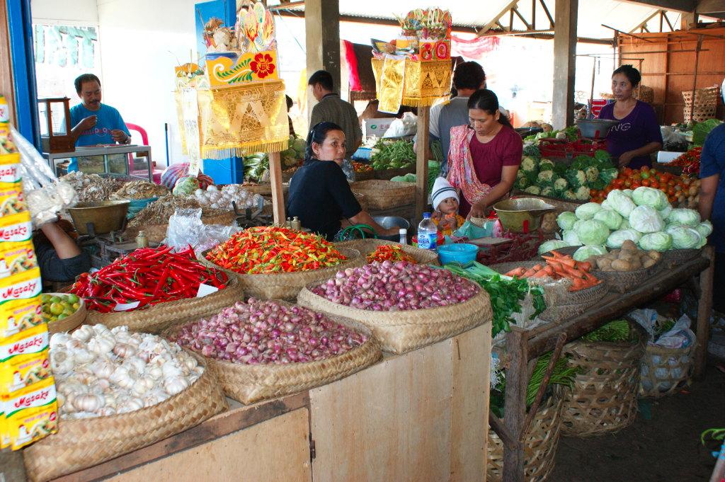 Légumes au marché de Singaraja