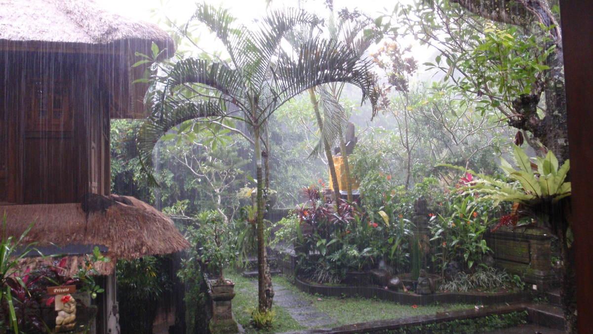 Pluie à Bali